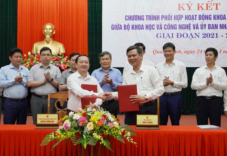 Tăng cường phối hợp hoạt động khoa học công nghệ giữa Bộ Khoa học và Công nghệ và UBND tỉnh Quảng Bình
